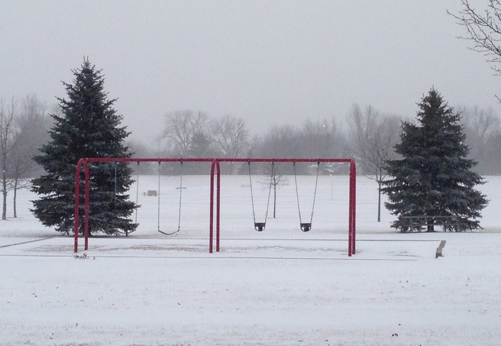 Swingset in snow