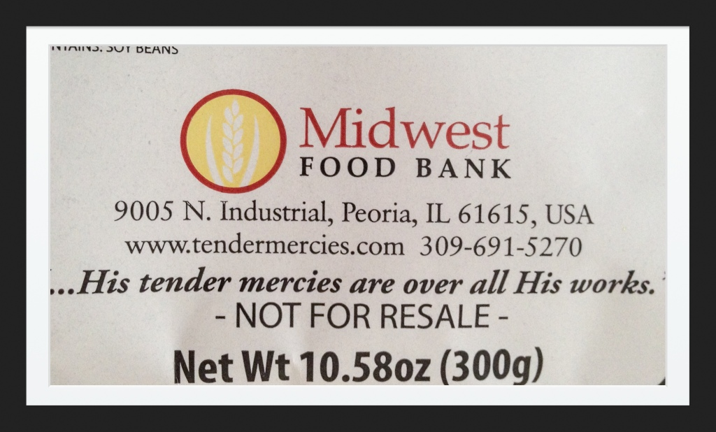 Midwest Food Bank Tender Mercies Red Beans and Rice Label.