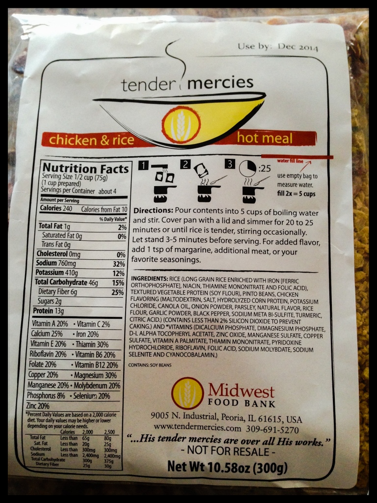 Tender Mercies Meal
