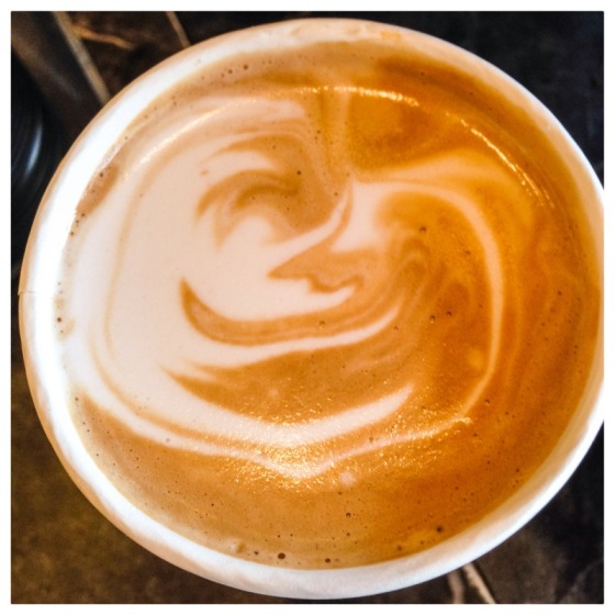 When I got my coffee, it looked like the Man in the Moon!